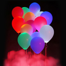 15Pcs 12 Inches LED Balloons Latex Multicolor Lights Helium Balloons Christmas Hollween Decor Wedding Birthday Party Supplies 6D(China)