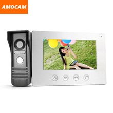 "7"" TFT LCD Color Video Doorphone Doorbell Intercom System with IR Camera Night Vision for Villa Home Apartment"