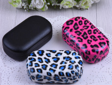LIUSVENTINA cute Leopard companion box leather box 3 types contact lens case lenses container