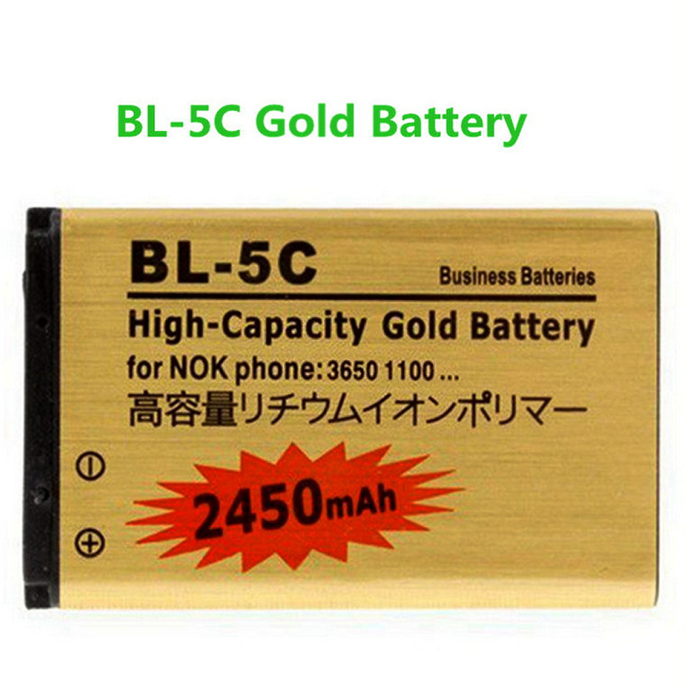 2pcs High capacity Sale Low Price 2450mAh BL-5C BL 5C Mobile Phone Battery for Nokia 1000/1010/1100/1108/1110/1111/1112/1116(China (Mainland))