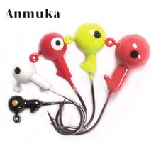 Anmuka Lead Jig Head 1g 2g 3.5g 5g 7g 10g Barbed Hook Soft Lure Jigging Hook Fishing Hooks