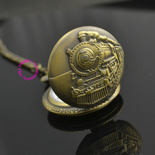 old bronze man father day train pocket watch gift quartz short waist chain wholesale buyer low price good quality retro vintage