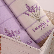 34*34cm 100% Cotton Hand Face Towel Absorbent soft Comfortable Embroidered Lavender Aromatherapy Towel