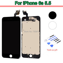 None Spot OEM Quality For iPhone 6s plus LCD Touch Screen Digitizer+front camera full Assembly replacement + open Tools kit