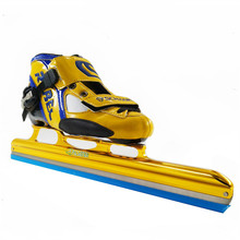 REBEC LONG Track ice skating shoes black white roller skates for Hockey shooes Ice shoes(China)