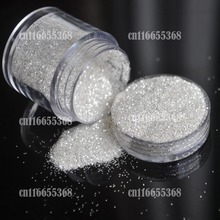 Beautiful Pure Silver UV Glitter Powder Dust Sheet Nail Art Decorations Smallest Fine Glitter #01