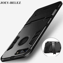 JOEY-BELEZ Armor case for iphone 5 5s se 6 6s plus cover hard soft PC + tpu holder full body Protective bags for iphone 7 7 plus