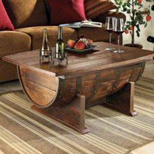 Bar Hotel Oak barrel Coffee Tables large table decorative fashion table oak wood barrels desk chairs decoration bucket JH121(China)