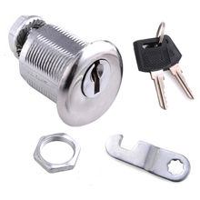 1Pc New Cam Lock 25mm With 2 Keys for Cabinet Mailbox Drawer Cupboard Locker Home Tools