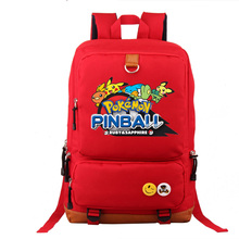 Cosplay POKEMON Backpack Unisex Fashion Backpack Laptop Backpack Black Blue Red purple school bag Daily backpack