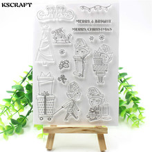 KSCRAFT Christmas Elf Transparent Clear Silicone Stamps for DIY Scrapbooking/Card Making/Kids Fun Decoration Supplies(China)