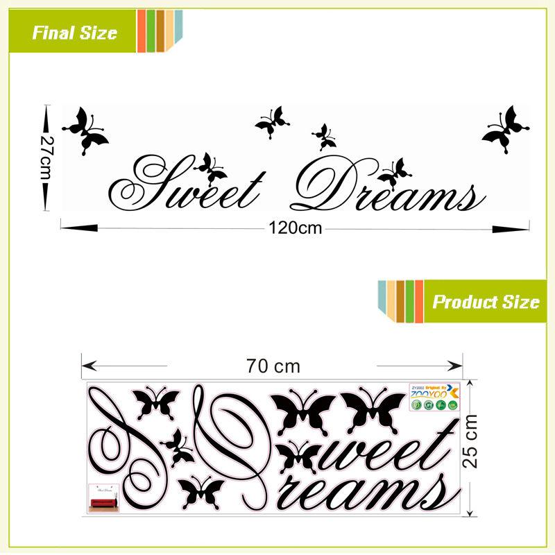 HTB1KT5.lPuhSKJjSspaq6xFgFXam - sweet dreams butterfly wall stickers