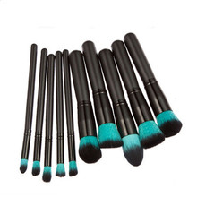 2017 NEW High Quality 10 pcs Maquillage Make up Techniqueing Professional Makeup Brush Set Powder Loose Belt free ship(China)