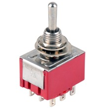 1 PC NEW Red 9 Pin ON-OFF-ON 3 Position Mini Toggle Switch AC 6A/125V 3A/250V VE521 P0.4(China)