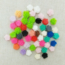 10mm no hole resin flowers cabochons cameo flat back nails beauty manicure decals decoration rose mobile phone case glue on diy