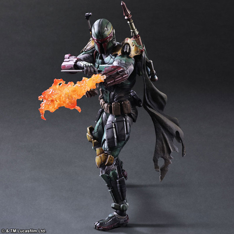 270mm Star Wars Boba Fett Action Figure Play Arts Kai Toys PVC Anime Toys Boba Fett Movie Star Wars Playarts<br>