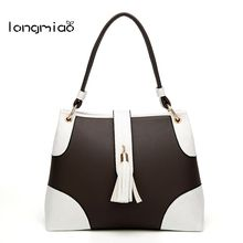 longmiao Fashion Designer Women Handbag Patchwork Female PU Leather Handbags Portable Shoulder Bag Office Ladies Hobos Totes(China)