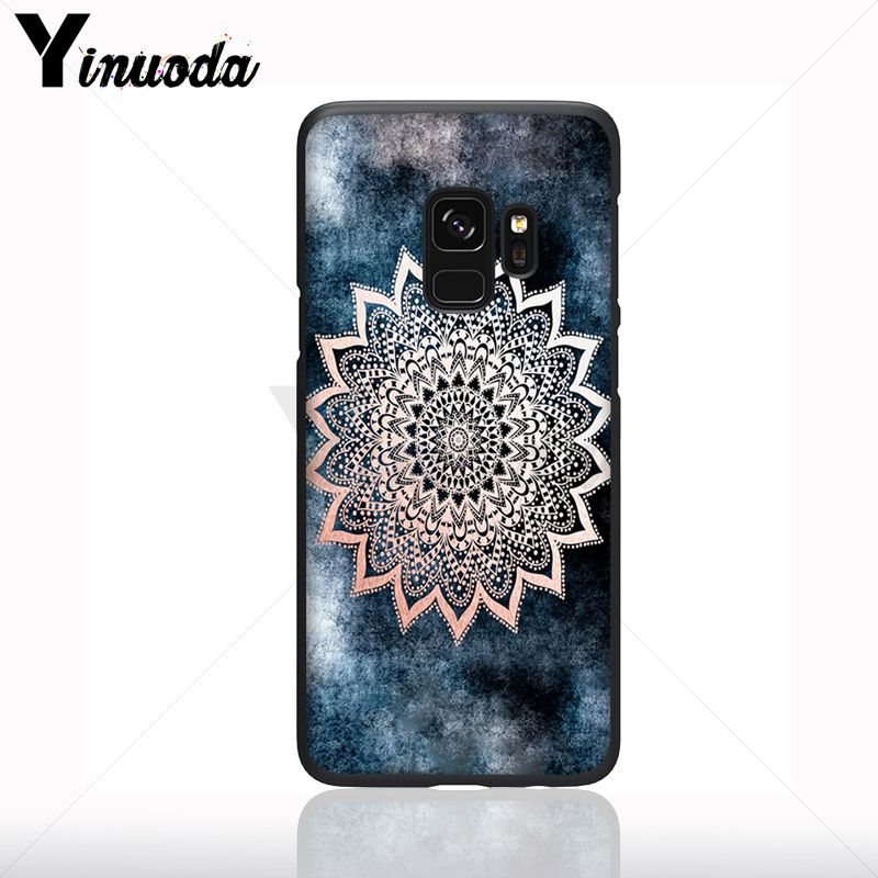 blue gold Mandala flower dream castcher