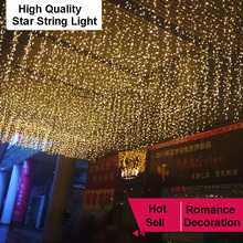 High Connectable Led Curtain Icicle String Lights Led Fairy Lights Christmas Lamps Icicle Lights Xmas Wedding Party Decoration