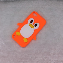 For ipod Touch 5 5G T5 &  6 6G T6 Bag Hot Luxury 3D Cute Cartoon Penguin Duck Bags Soft Silicon Back Cover Phone Case