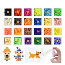24 Colors Water Spray Magic Aqua Beads DIY hand making 3D bead puzzle Educational Toys For Children DIY Kit Ball Puzzle Game(China)