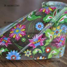Nail Art Wholesaler Easy DIY Nail art Product Nail Glue Transfer Foil Purple Flower Green Leaf Clear Base YC432