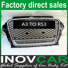 2008+ A3 Change to RS3 Front Grill for AUDI A3 Grille,Up to RS3 Black Mesh Car Grill