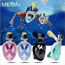 Drop Shipping-8 days-USA UK AU Full Face Scuba Diving Mask Gopro Camera Diving Mask Snorkel Underwater Scuba Anti Fog Snorkeling(China)