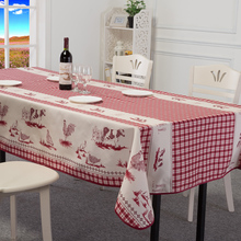 waterproof grease proofing Tablecloth Cotton Linen Fabric Table Cloth Cover Home Decoration for the Kitchen