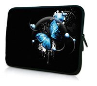 "10"" Blue Butterfly Netbook Laptop Sleeve Bag Case Cover Pouch For 10.1"" ASUS Eee Pad TF10 Tablet PC,Waterproof,Shockproof"