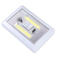 MUQGEW COB LED Wall Switch Wireless Battery Operated Closet Cordless Night Light LED light Battery operated(China)