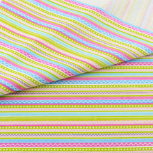 Cute Stripe Cotton Fabric Home Textile Decor Bedding Clothing Quilting Patchwork Scrapbooking Doll Sewing Cloth Teramila Fabrics
