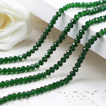 5040 AAA+ Emerald Loose Crystal Glass Rondelle beads DIY Jewelry Accessories.2mm 3mm 4mm,6mm,8mm 10mm,12mm Free Shipping!