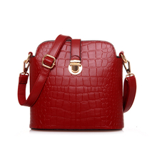 2017 New Fashion Alligator Lady Embossing Messenger Crocodile Grain Hasp Shoulder Bags Crossbody Bags(China)