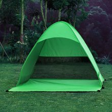 Outdoor Automatic Pop up Quick Pitch A Tent Cabana Beach Camping Picnic Shelter or Beach Park For 2-3 Person Double Green Tents(China)