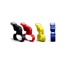 4pcs Whistle With Finger Grip Referee Sports Whistle Basketball Volleyball Tennis Dolphin Fox 40 whistle(China)