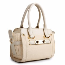 LG1603 - MISS LULU WOMEN DESIGNER CELEBRITY PU LEATHER LOOK SMALL HANDBAG CROSS BODY SHOULDER SATCHEL HAND BAG BEIGE