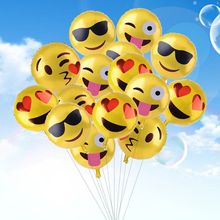 45cm Emoji foil balloon birthday wedding decor inflatable ball Emotion smile balloon cartoon 11 type smile balloon for party