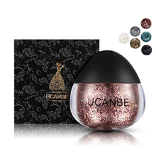 1 Pc Glitter Eyeshadow Maquiagem Pigmento Nude Makeup Highlight Power Eyeshadow Palette Cream For Face Eyes Body Beauty Shining(China)