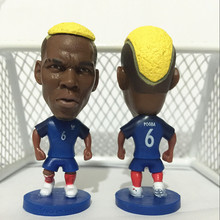 Soccerwe Stand 6 Pogba Soccer Doll ( France 2016 Euro Cup ) Blue
