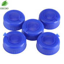 5Pcs Blue Gallon Drinking Water Bottle Screw on Cap Replacement Anti Splash Lids Keep Water Clean