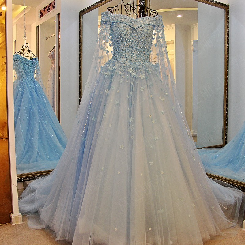 pearls flowers wedding dress (2)