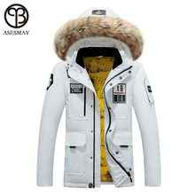 Asesmay Top Quality Plus Size M-3XL Parkas Hombre 2017 Mens Down Jackets Hood And Coats Snowboard Warm Winter Jacket Men parka