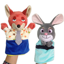NEW Children Zootopia Hand Puppet Toy Novelty Cute Hand Glove Puppet Rabbit Judy Hopps Fox Nick Wilde Finger Sack Plush Toy Doll(China)