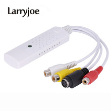Larryjoe USB2.0 Video Capture TV Tuner Card with Audio TV DVD VHS Audio AV Adapter Computer CCTV Camera Support Window 7/8 XP(China)