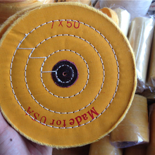 7'' 180mm Yellow Sawing Cloth Polishing Wheel for Various Glazing Machine to Buffing Metals & Grinding Crystal 50 Floors Covers