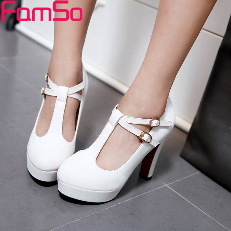Plus Size34-43 2017 Shoes Women Pumps buckle Elegant Style High Heels Single Shoes Office Prom Sexy Platforms Pumps PS2678<br><br>Aliexpress