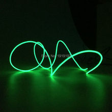1M/2M/3M/4M/5M Flexible LED Strip Light Neon Light Glow EL Wire Rope Tube Cable+Battery Controller Wire Dance Light Car Styling