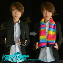 Black to Rainbow Scarf Magic Tricks Free Shipping 2016 Coins Magia Trick Close up Street Coins Magie(China)