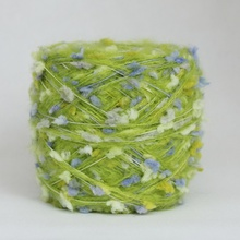 200g/lot Skein Acrylic Fibers Mohair Yarn Hand Knitting Green Yarn for Hand-knitted Scarf Hat Sweater Scarf Crochet Yarn(China)